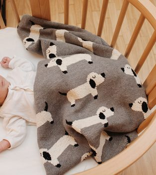 Babyshop - Decke mit Hundemotiv