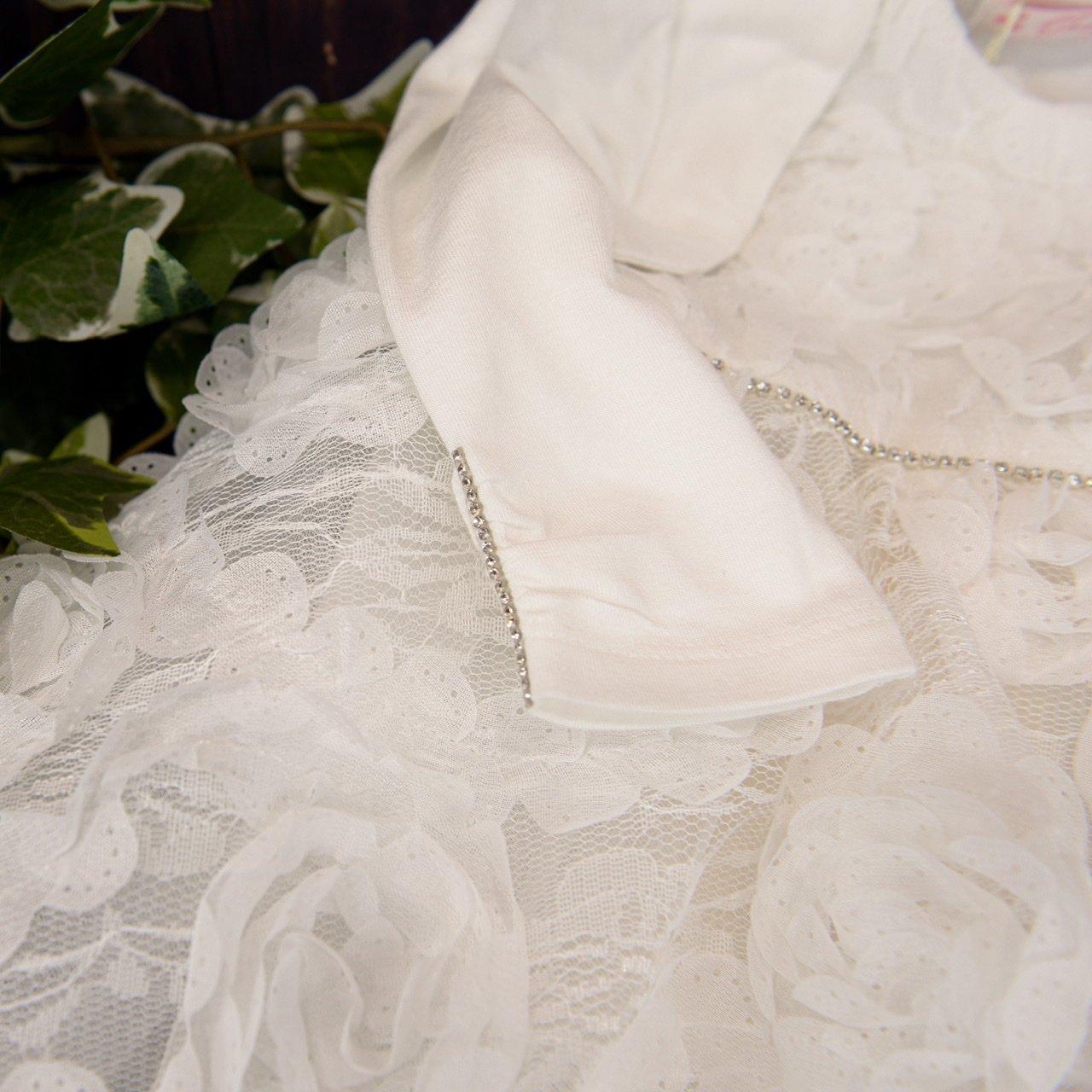 Babyshop - Taufkleid mit Tüllblumen und Bolero